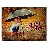 Lolapix Manta Suave Personalizada con tu Foto, diseño o Texto, Original y Exclusivo. Tamaño...