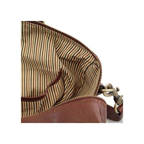 Tuscany Leather - TL Voyager - Sac de voyage en cuir - Petit modèle Marron - TL141216/1 Miel