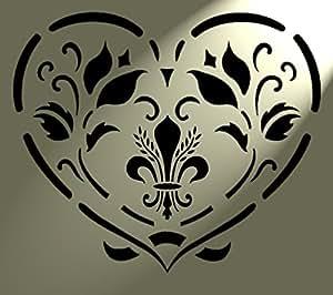 C urs style shabby chic pochoir fleur rustique vintage en mylar a4 297 x 210 mm art tissu mural - Pochoir shabby chic ...