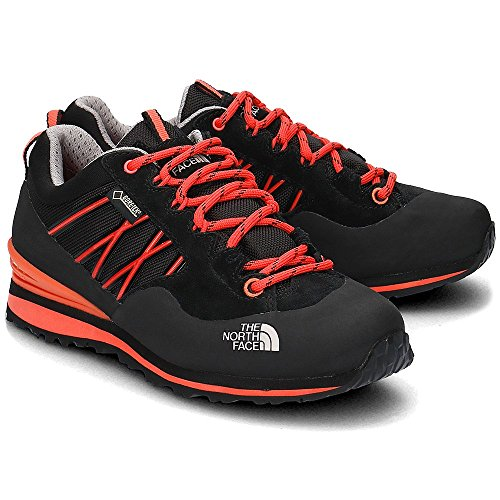 The North Face W Verto Plasma Ii Gtx, Chaussures de Randonnée Femme Noir - Negro (TNF Black / Radiant Orange)