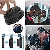 Sixcup  Gegenlichtblende Zusammenklappbar Sonnenschutz Geeignet für Jede Kamera APS-C/Schild Reduzie (Größer als 60 mm, Schwarz)