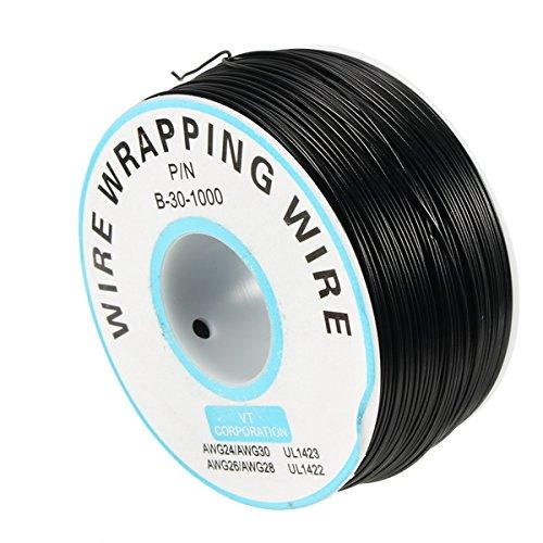 Bluelover 0.55Mm Leiterplatte Single-Core Verzinnte Kupfer Wire Wrap Elektronische Draht Fliegenschnur Jumper Kabel 8 Farbe Erhältlich - Schwarz