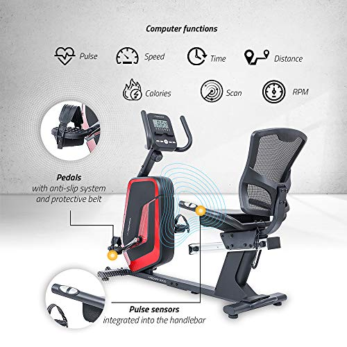 Zoom IMG-2 techfit r700 cyclette orizzontale recumbent