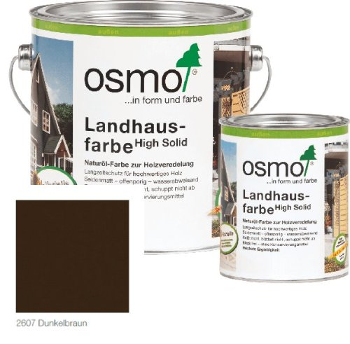 Preisvergleich Produktbild Osmo Landhausfarbe Dunkelbraun 2607-2,5 l