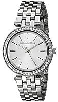 Michael Kors MK3364 - Reloj de cuarzo con correa de acero inoxidable para mujer, color plateado de MJC1U