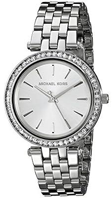 Michael Kors MK3364 - Reloj de cuarzo con correa de acero inoxidable para mujer, color plateado