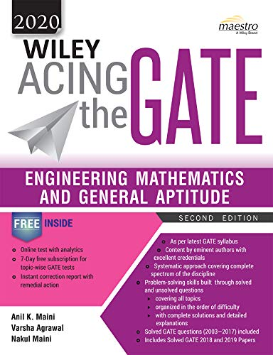Wiley Acing the GATE: Engineering Mathematics and General Aptitude, 2ed, 2020