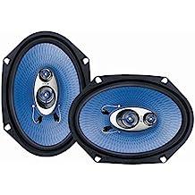 """Pyle PL683BL - Sistema de altavoces 360 vatios, 4-way (6"""" x 8"""") azul"""