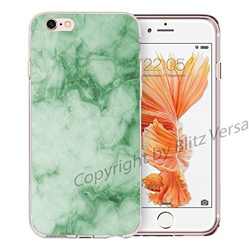Blitz® MARBRE motifs housse de protection transparent TPE caricature bande iPhone Or et marbre noir M10 iPhone 7PLUS Marbre vert M13