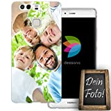 dessana Eigenes Foto Transparente Schutzhülle Handy Tasche Case für Huawei P9