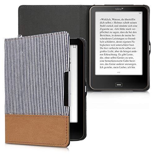 kwmobile Tolino Vision 1 / 2 / 3 / 4 HD Hülle - Canvas eReader Schutzhülle Cover Case für Tolino Vision 1 / 2 / 3 / 4 HD