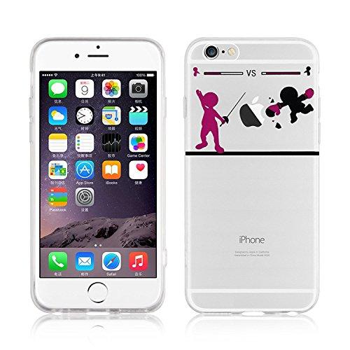 Blitz® WITZ Schutz Hülle Transparent TPU Cartoon Comic Case iPhone Papierflieger iPhone 5 Duell