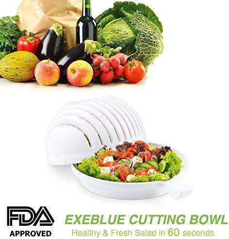 Ciotola per insalata taglierina affetta verdure e e verdure frutta bianca 775bcf