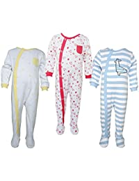 Teddy's Choice 100% Cotton Multi color 3 Combo Kid's Romper for 12-18 Months :Modle-08