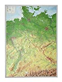Relief Deutschland  1:1.2MIO mit Aluminiumrahmen