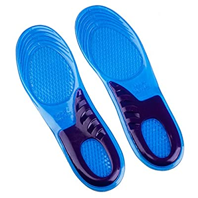 Csl Insoles Uk Size 3 - 12 Blue Available For Work Boots Hiking Running Trainers Foot Support Heel Shoe Inserts Gel Massaging …