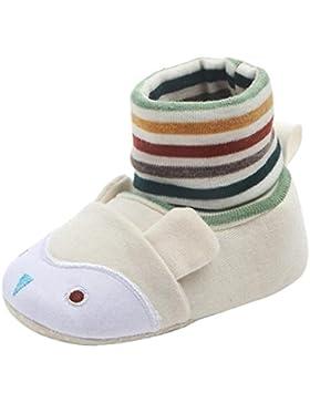 sunnymi Weicher Baby Lauflernschuhe Krabbelschuhe Baumwolle Socke Aufwärmen Säugling Schuhe