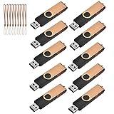 TEWENE USB Stick,10 Stück 4GB USB 2.0 Speicherstick (Golden)