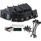 yibuy negro rk-4m 5Band preamplificador EQ Piezo Pickup & LCD Tuner & micrófono Set de 5