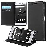 ECENCE Handyhülle Schutzhülle Case Cover kompatibel für Sony Xperia Z5 Premium Handytasche Schwarz 13040304