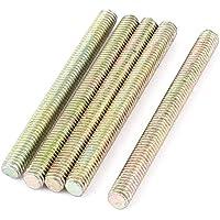1mm Pitch M6 x 65mm tono completo varilla roscada barra de bronce de 5 PC