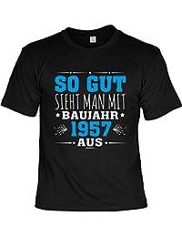 1957 Geburtsjahr BAUJAHR zum 60. Geburtstag Geschenke 60. Geburtstag Sprüche T-Shirt Männer 60 Jahre bedruckt So gut sieht man mit BAUJAHR 1957 aus Jahrgang 1957 Geburtstagsgeschenk : )