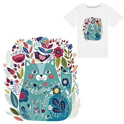 af8e50bcc6 yanhonin 1pc Cat Iron on Patch DIY Heat Transfer Adhesivo Aplique Clothing  Fabric camiseta