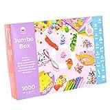 PepMelon - Jumbo Box Set Creativo bricolage, 1031 PCS, + Guida Artigianale con Idee Creative per Lavorare con i Bambini Feste di Compleanno per Ragazze e Ragazzi.