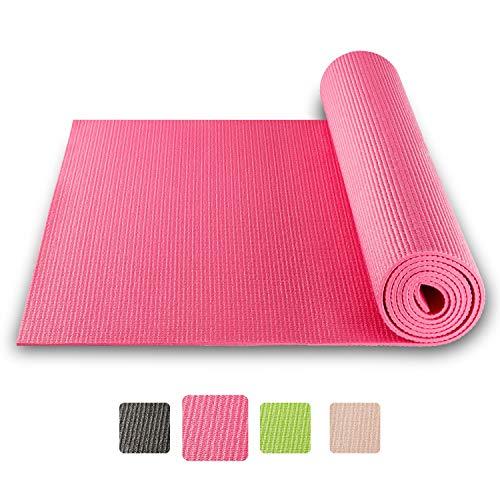 BODYMATE Yogamatte Universal – Größe 183x61cm – Dicke 5mm – Schadstoffgeprüft frei von Phthalaten, BPA, Schwermetallen – Trainings-Matte für Fitness, Yoga, Pilates, Functional