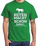 clothinx - Reiten Macht Schön und Arm – Boys T-Shirt Kelly Green, Größe XL