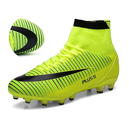 BOLOG para adultos adolescentes hombre FG Botas de fútbol Spike zapatos de fútbol  Botas de fútbol 22b2e288227b3