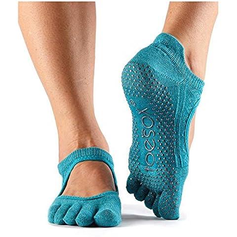 ToeSox Calze antiscivolo con dita Bellarina, danza calze, confezione da 2paia, per danza, Barre, Yoga, Pilates, Fitness antiscivolo calze, Mermaid, Medium/6-8.5