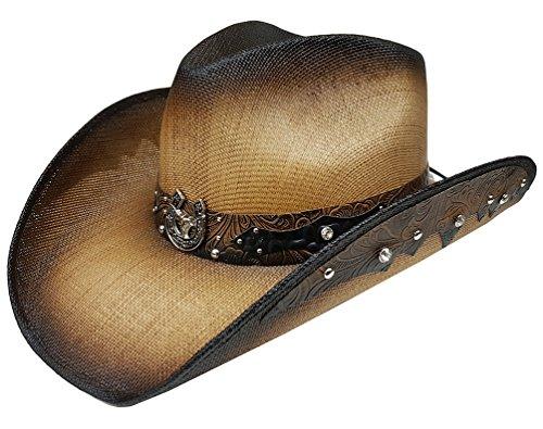 modestone-straw-cappello-cowboy-longhorn-bull-horseshoe-rhinestones-appliques-brown
