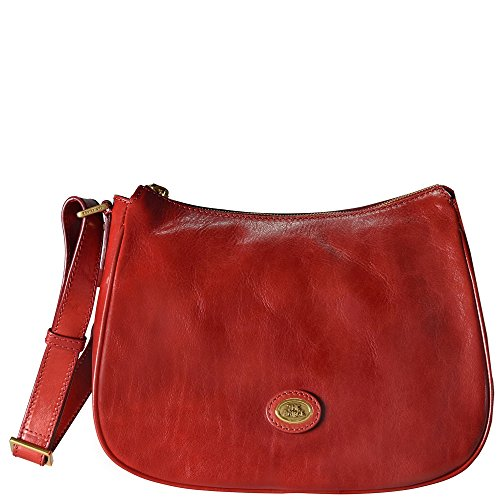 The Bridge Story Donna Sac bandouliére III cuir 30 cm rosso ribes