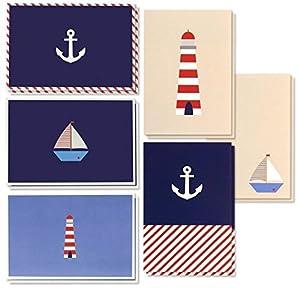 velero ocasiÓn: 48unidades todos los ocasión en blanco Tarjeta de felicitación de tarjetas de N...