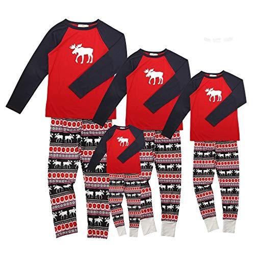 Landove pigiama natale famiglia due pezzi xmas renna pantaloni e t-shirt manica lunga top pigiameria autunno e inverno per mamma papà neonato bambino pajamas set da notte romper sleepwear sleepsuit