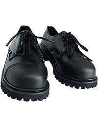 20 agujero Rangers Botas Con Cubierta de acero color negro o burdeos Zapatos De Cordones 45/11 , negro