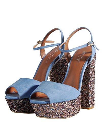 Nasty Gal Maryam 02 Periwinkle Blue Shoes Chaussures avec Strass Bleu Bleu - Bleu