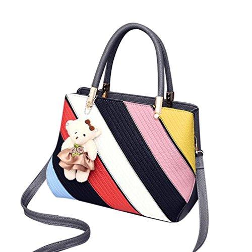 Baymate Mode Tasche Damen Handtasche Bunt Stil Kunstleder Schultertasche Stil 4