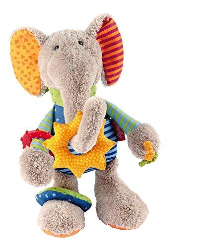 sigikid, Mädchen und Jungen, Aktiv-Elefant, PlayQ, Grau/Bunt, 40863