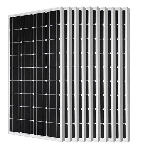 ECO-WORTHY 1000W Solarmodul 12V - 10 Stück 100W Mono Photovoltaik Solarpanel