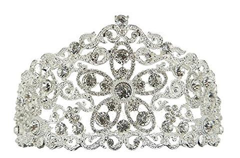 Pendentif étoile strass plaqué argent incrusté de cristaux Motif Floral Couronne Bandeau diadème de mariage