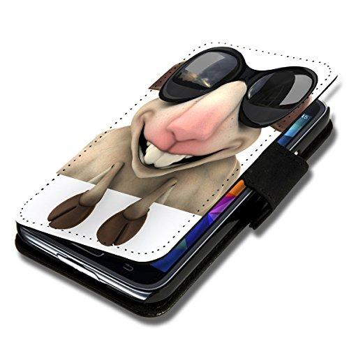 Book Style Flip Handy Tasche Case Schutz Hülle Schale Motiv Etui für Huawei Ascend Y530 - Flip X1 Design2