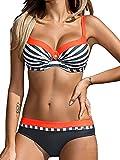 Yuson Girl Bikini Sets Damen, Bademode Push up Bikinis Sexy Badeanzug Bikinis für Frauen (DE42, Stil 2:Orange)