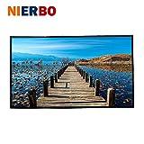 """NIERBO 60"""" PVC Pantalla de Proyección Pantalla Plegable para Proyector 16:9 para Uso al Aire Libre, Camping (PVC 60"""")"""