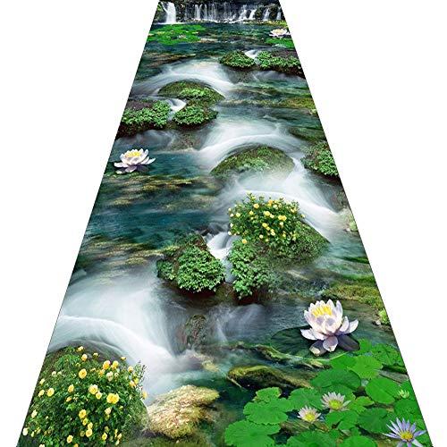 ZRUYI Läufer Teppiche Flur Teppich Korridor Teppich Eingang Matte 3D Natürlich Landschaft Design Dauerhaft Waschbar, Größe Anpassbar (Color : A, Size : 0.8x2m) - Natürlichen Läufer Teppich