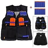 Yosoo Childrens Enfants Elite Tactical Vest pour Nerf Gun N-strike Elite Series (gilet noir+balle)