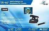 BB-EP/Thule 9825354069 Kompletter Premium Stahl-Dachträger für KIA Sorento 5 Türer SUV 2015 bis Heute - Komplettset abschließbar - Inkl Schlüsselband und Insect Erase