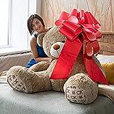 Kenley 76cm grande rosso magnetico auto fiocco con nastro 185cm corde–enorme Wow Big Surprise Wrap della decorazione per matrimonio, compleanno, gigante presenta–si attacca con magneti e ventosa