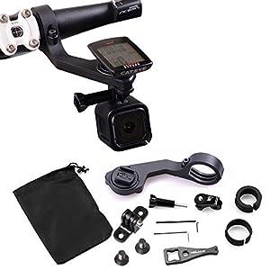 holaca 25,4/31.8mm deportes bicicleta manillar ordenador soporte, soporte de soporte delantero para ciclismo Set para Cateye GPS con cámara deportiva GoPro/SJ CAM/Sony/Garmin Virb X y XE